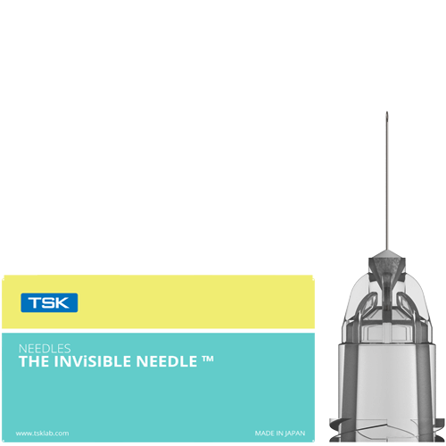 THE INViSIBLE NEEDLE, needle and box