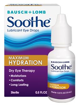 Soothe Lubricant Eye Drops Maximum Hydration